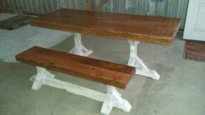Barn/farm table & bench